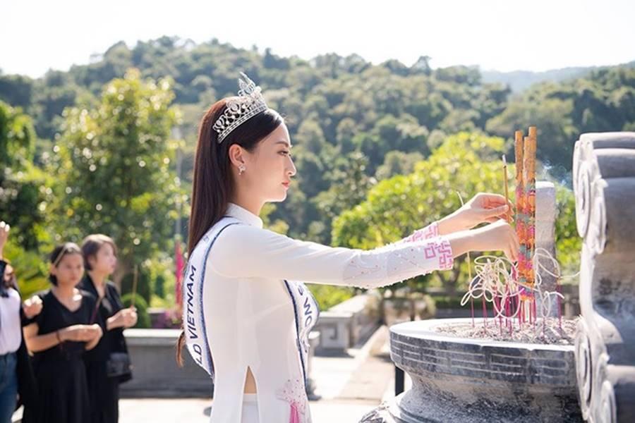 Hoa hậu Lương Thuỳ Linh thả dáng giữa chốn bồng lai tiên cảnh của Cao Bằng-3