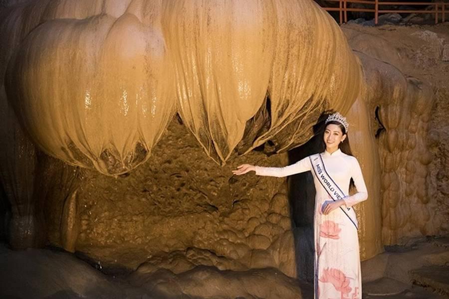 Hoa hậu Lương Thuỳ Linh thả dáng giữa chốn bồng lai tiên cảnh của Cao Bằng-5