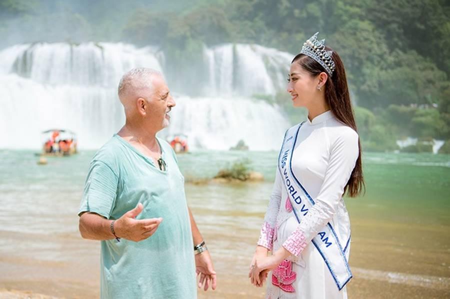 Hoa hậu Lương Thuỳ Linh thả dáng giữa chốn bồng lai tiên cảnh của Cao Bằng-11