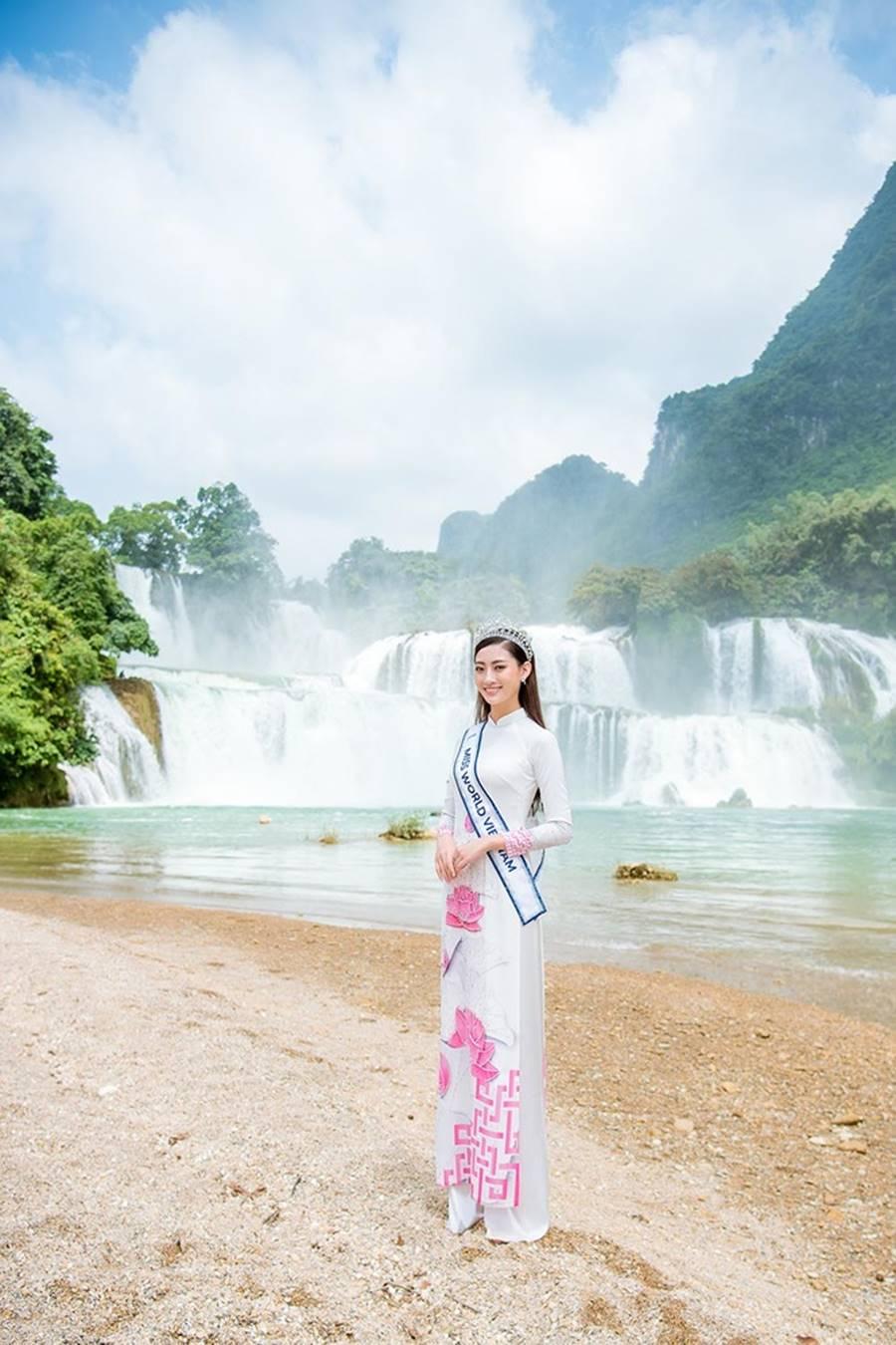 Hoa hậu Lương Thuỳ Linh thả dáng giữa chốn bồng lai tiên cảnh của Cao Bằng-9