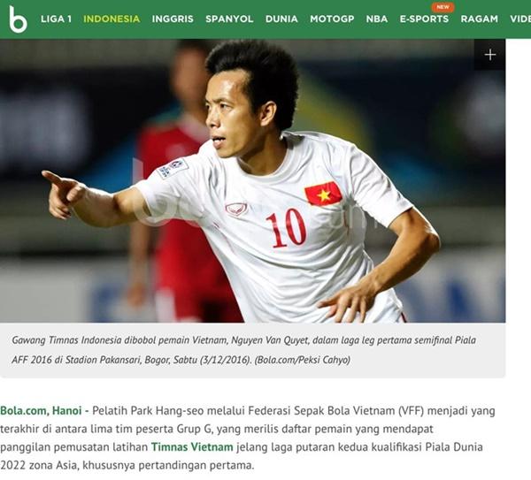 Báo Thái Lan: Ông Park gọi 5 tiền đạo, còn chúng ta có 2 người-1