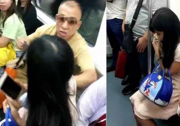 Chửi bới, hành hung cô gái trẻ chỉ để giành chỗ ngồi trên tàu điện ngầm, người đàn ông ăn gạch tới tấp từ cộng đồng mạng-1