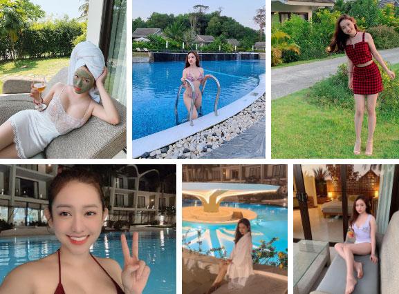 """Du lịch kiểu hơi mệt"""" của Thúy Vi: ở trong resort cả ngày, thay chục bộ bikini bên bể bơi, tìm mỏi mắt không thấy ảnh đi ra ngoài!-10"""
