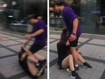 Trêu chọc nữ du khách nhưng bị ngó lơ, người đàn ông bực tức luôn miệng mắng chửi rồi lao vào túm tóc, hành hung cô gái dữ dội