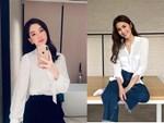 Nàng công sở không bao giờ lo mặc xấu, nếu biết 12 công thức diện áo sơ mi trắng tuyệt xinh từ các mỹ nhân Việt-13