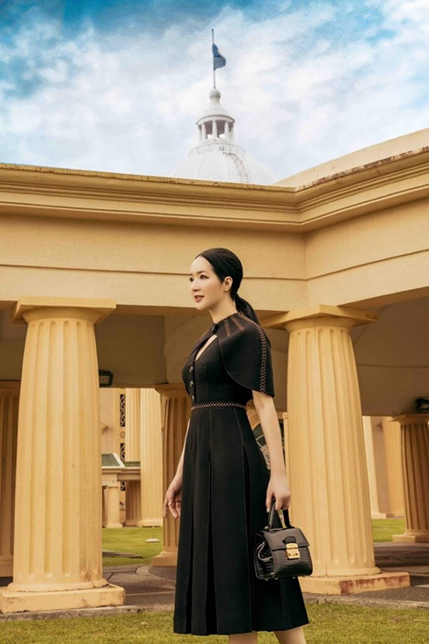 Hoa hậu Đền Hùng Giáng My toát lên phẩm chất quý cô khi dạo bước ở phủ tổng thống Palau-8
