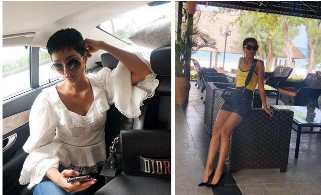 Từng là hoa hậu nghèo nhất Vbiz với giày 80k và áo phông đi mượn, giờ đây HHen Niê đã quen thuộc với việc dát đồ hiệu lên người-4
