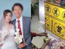 Đám cưới đặc biệt của chàng trai bay từ Nhật về để trao nhẫn lên bàn thờ vợ: