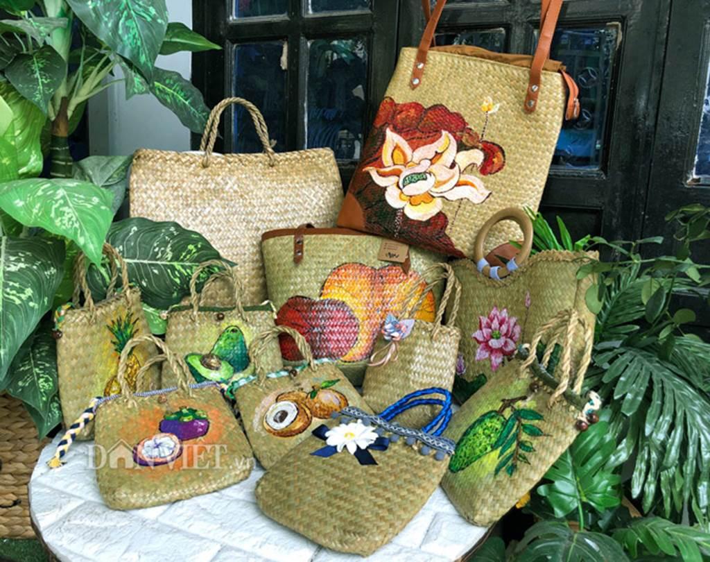 Bộ sưu tập túi xách thời trang khủng từ cỏ dại của 8X Đồng Tháp-1