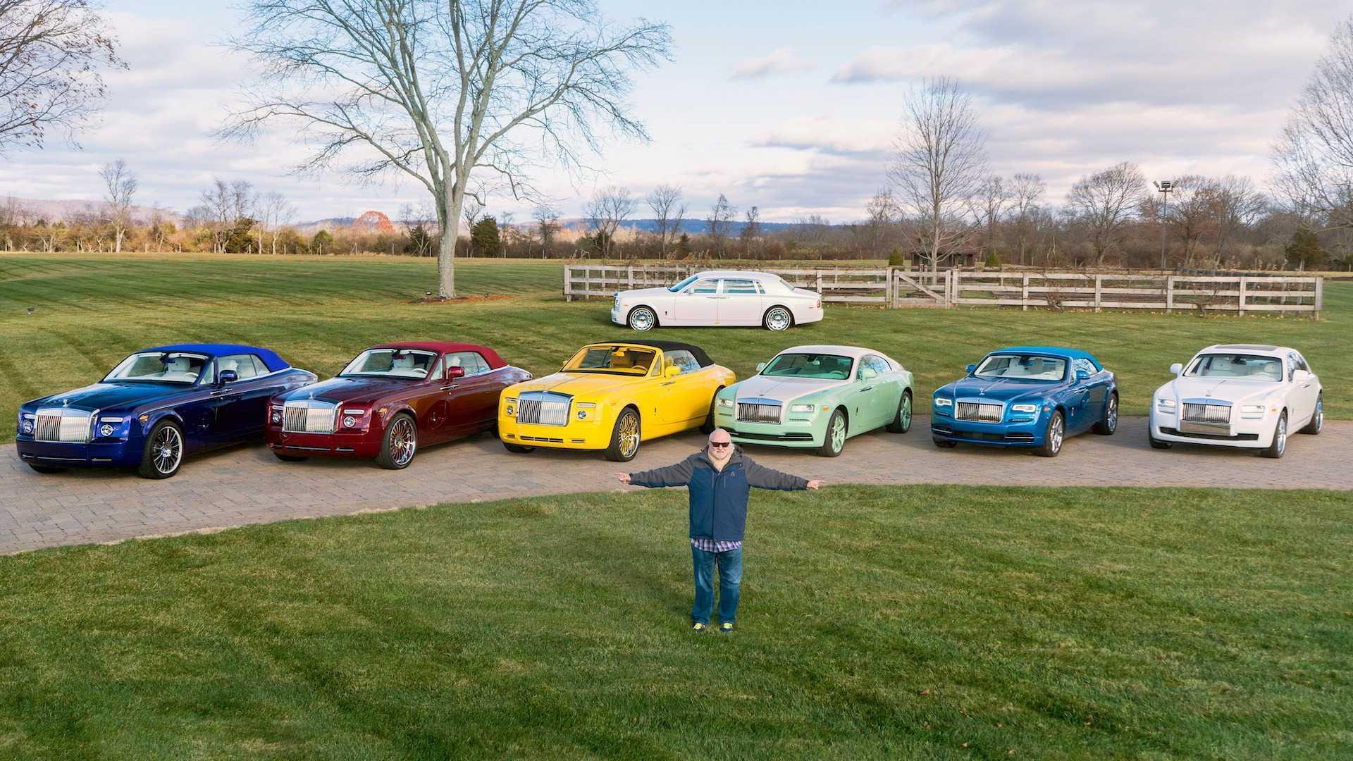 Đại gia sở hữu 10 siêu xe Rolls-Royce màu độc, đặt theo tên mình-1