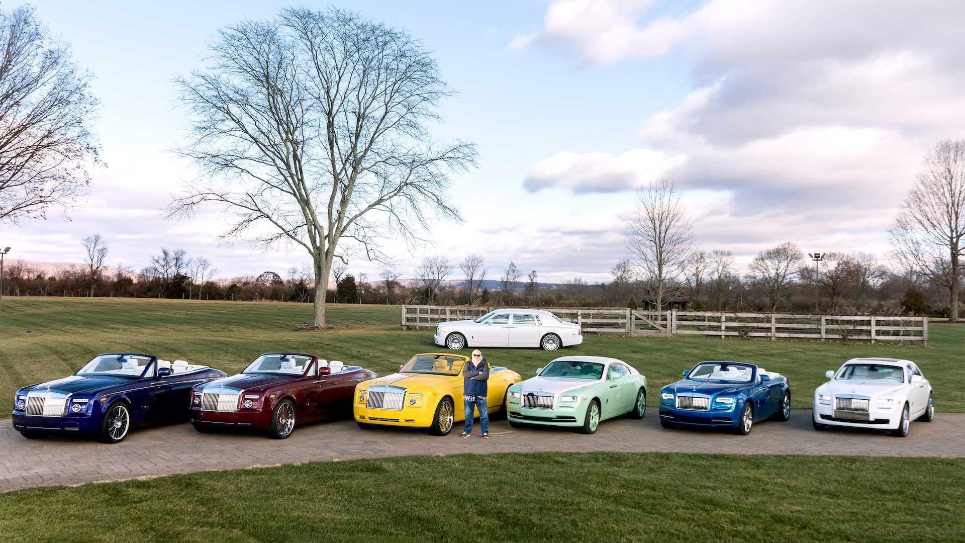 Đại gia sở hữu 10 siêu xe Rolls-Royce màu độc, đặt theo tên mình-2
