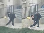 Khoảnh khắc gây sốc: Người phụ nữ bị nước mưa đổ ập xuống cuốn phăng cả chục mét khi đang đi trong trung tâm thương mại-4