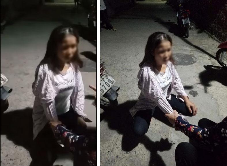Người phụ nữ bị giữ tay, mắng xối xả giữa đường vì nghi ngờ cặp bồ với người đã có gia đình: 9 ngày nó đi với nhau 2 hôm-1