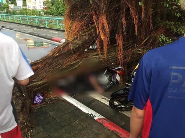 Xót xa cảnh người thân gào khóc thảm thiết tại hiện trường nam thanh niên tử vong vì cây đổ ở Hà Nội-4