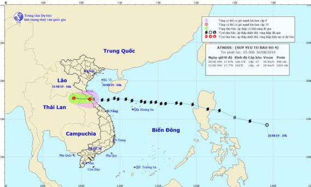 Bão số 4 đã suy yếu thành áp thấp nhiệt đới, miền Trung vẫn có mưa vừa, mưa to-1