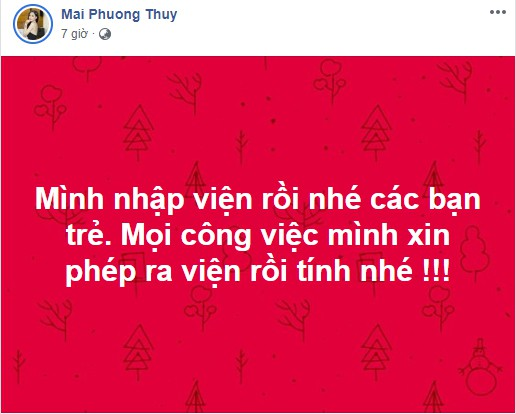 Hoa hậu Mai Phương Thúy phải nhập viện khẩn cấp khiến người hâm mộ lo lắng-1