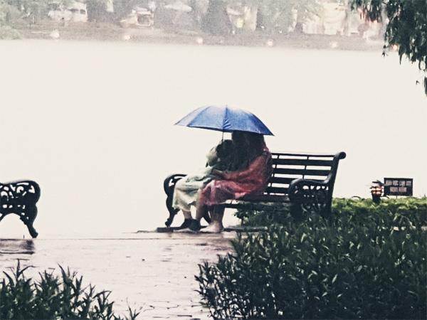 Cặp đôi nắm tay nhau dưới mưa không rời suốt 1 tiếng đồng hồ và phản ứng hài hước của dân mạng-2