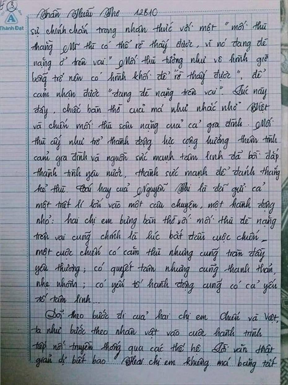 Nam sinh gây sốt với bài văn dài 18 trang, cô giáo đọc xong không biết phải phê gì vì quá xuất sắc!-10