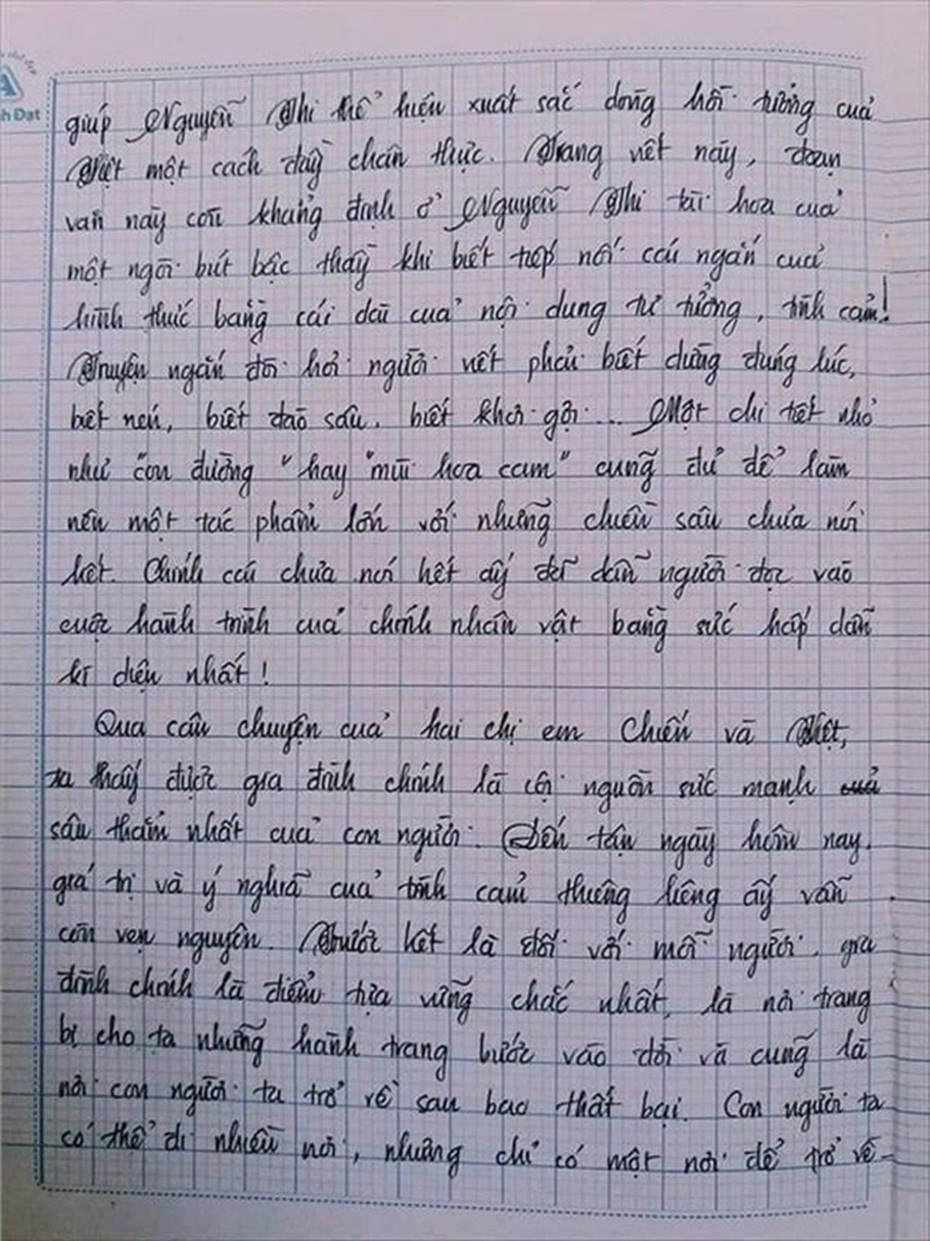 Nam sinh gây sốt với bài văn dài 18 trang, cô giáo đọc xong không biết phải phê gì vì quá xuất sắc!-15