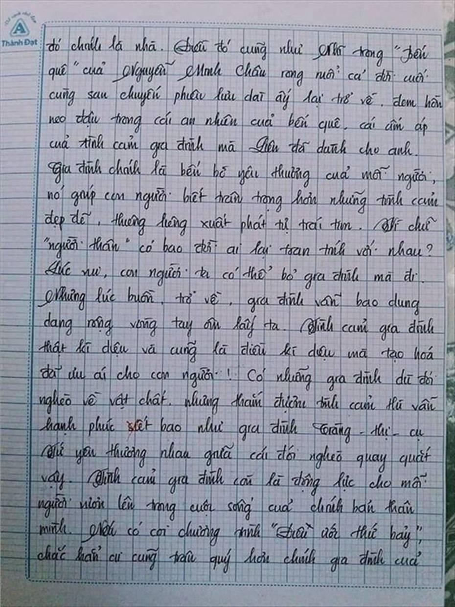 Nam sinh gây sốt với bài văn dài 18 trang, cô giáo đọc xong không biết phải phê gì vì quá xuất sắc!-16