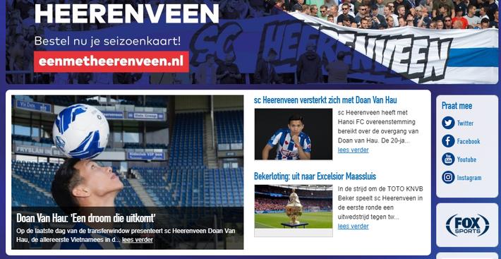 Sau màn ra mắt, Heerenveen dành vinh dự lớn cho Đoàn Văn Hậu-4
