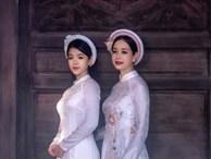 NSƯT Chiều Xuân và con gái út Hồng Khanh dịu dàng với áo dài trắng tinh khôi