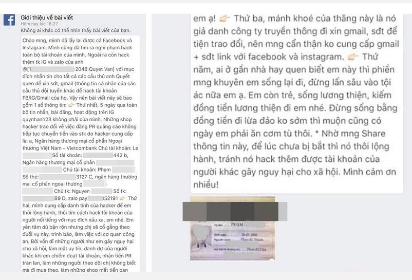 Bạn gái Duy Mạnh mất tài khoản 5 ngày, hacker lấy được món tiền lớn, nhưng thái độ cực gắt của Quỳnh Anh mới đáng chú ý-2