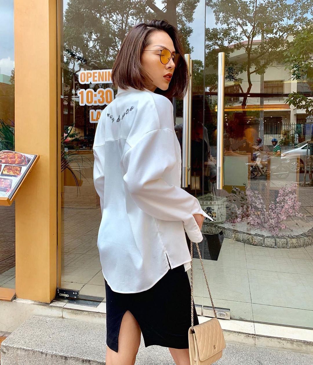 Nàng công sở không bao giờ lo mặc xấu, nếu biết 12 công thức diện áo sơ mi trắng tuyệt xinh từ các mỹ nhân Việt-12