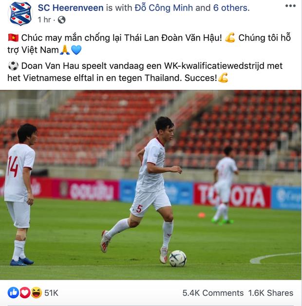 CLB Hà Lan cổ vũ Văn Hậu hạ gục tuyển Thái Lan bằng tiếng Việt của chị google dịch-1