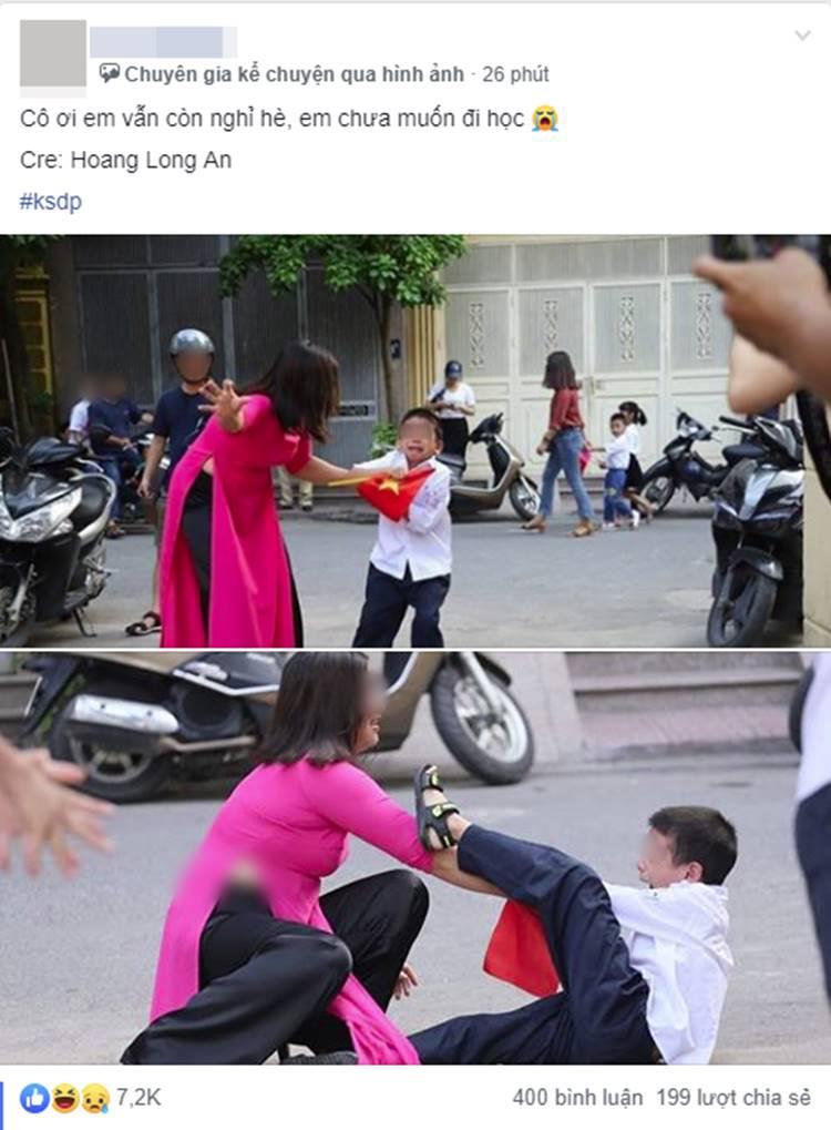 Nóng: Sự thật về bức ảnh Buông đôi tay em ra của cậu bé sáng ngày khai giảng khiến dân mạng cười đau ruột-1