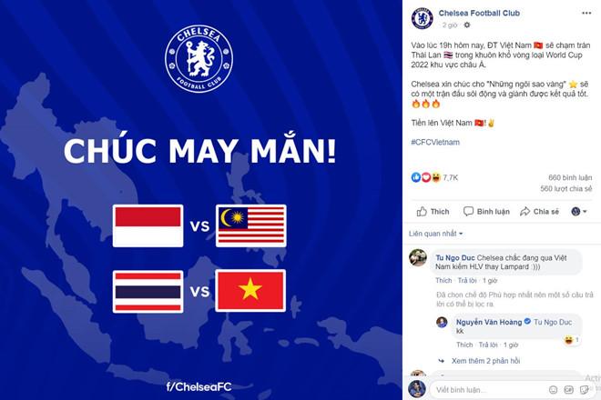 CLB Chelsea chúc tuyển Việt Nam chiến thắng-1