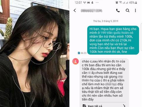 Mỉa mai shipper ăn quỵt 100k, cô gái nhận được tin nhắn phản dame: Cái giọng của chị khiến em muốn tiêu thật tốt số tiền ấy, nếu có nhầm thật!
