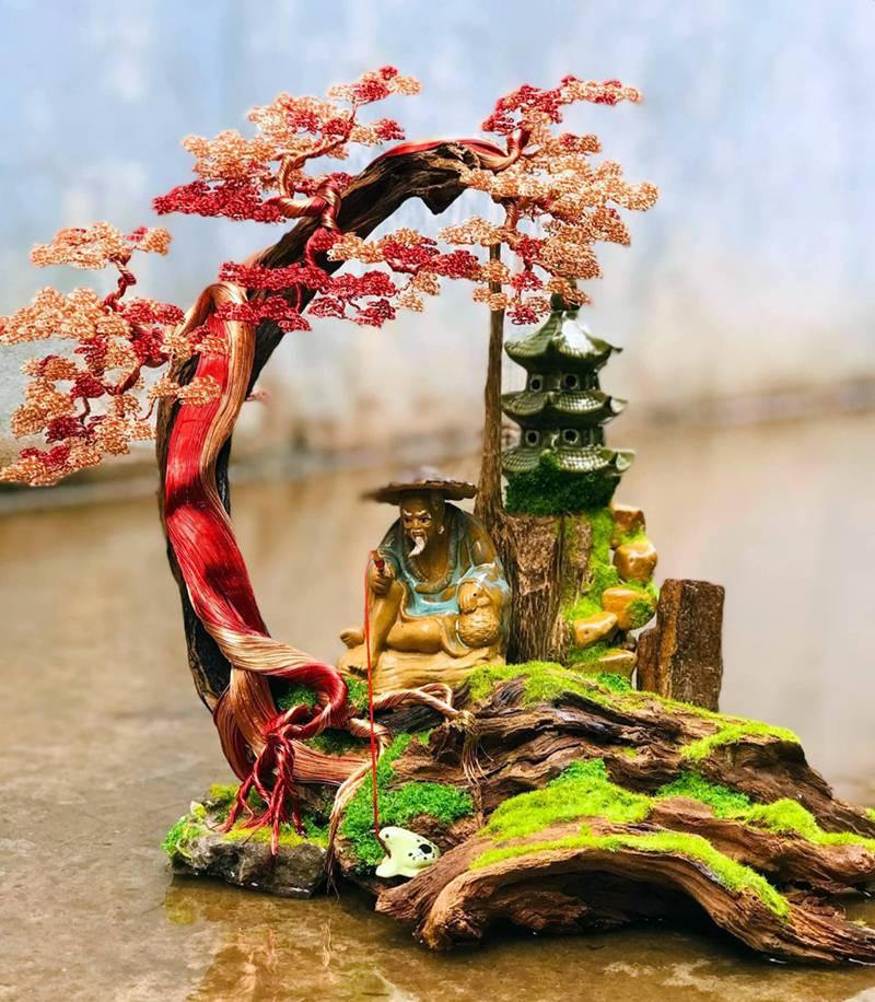 Hot boy An Giang hô biến sợi dây đồng thành cây bonsai dáng lạ-2