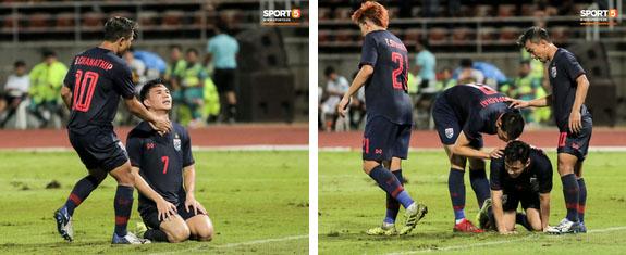 Công Phượng trò chuyện, nắm chặt tay Messi Thái Lan trước những cái nhìn kỳ lạ của đồng đội-11