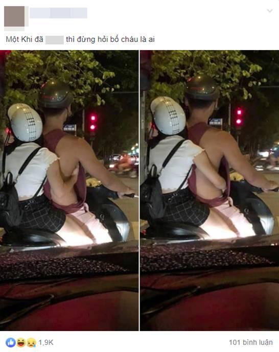 Dân tình trố mắt với bàn tay hư hỏng của cô gái giữa phố đặt vào chỗ rất kỳ, và chiếc áo của bạn trai cũng được chú ý không kém-1