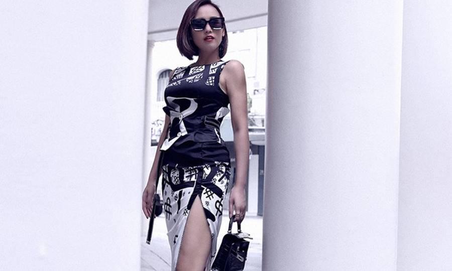 Lã Thanh Huyền tái xuất với loạt váy áo cắt xẻ táo bạo và gợi cảm-4