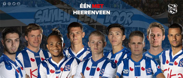 Văn Hậu có vị trí đẹp trong ảnh giới thiệu SC Heerenveen-1