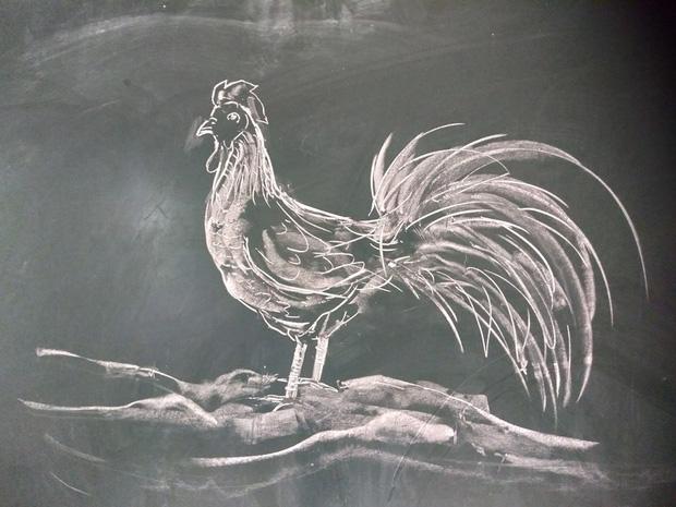 Thầy giáo trổ tài vẽ tranh bằng phấn, dân tình thán phục: Đẹp quá chẳng nỡ xóa đi!-5