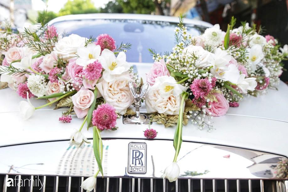 HOT: Toàn cảnh lễ đưa dâu toàn siêu xe hơn 100 tỷ của con gái đại gia Minh Nhựa, quà cưới toàn vàng, kim cương đeo đỏ tay-3