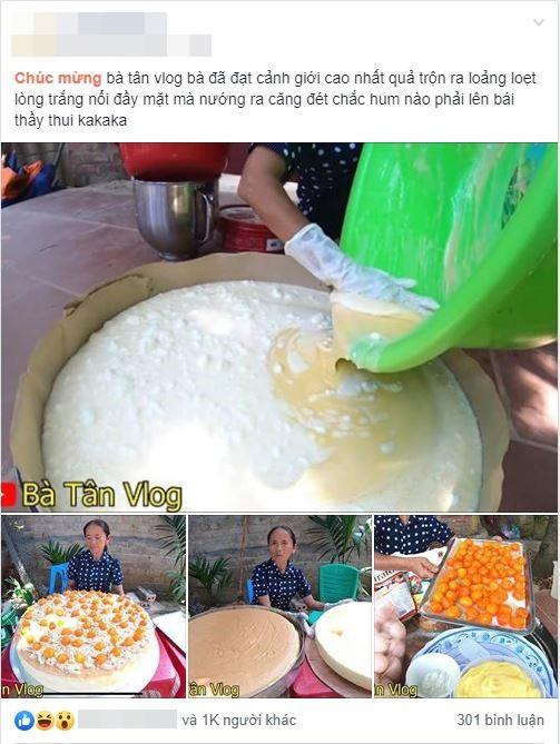 Giỏi như bà Tân Vlog: Bột trộn lõng bõng mà vẫn nướng được cốt bánh căng đét, dân làm bánh đành ngả mũ chịu thua-1