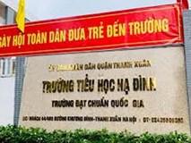 Hàng trăm phụ huynh Trường tiểu học Hạ Đình cho con nghỉ học sau vụ cháy Rạng Đông