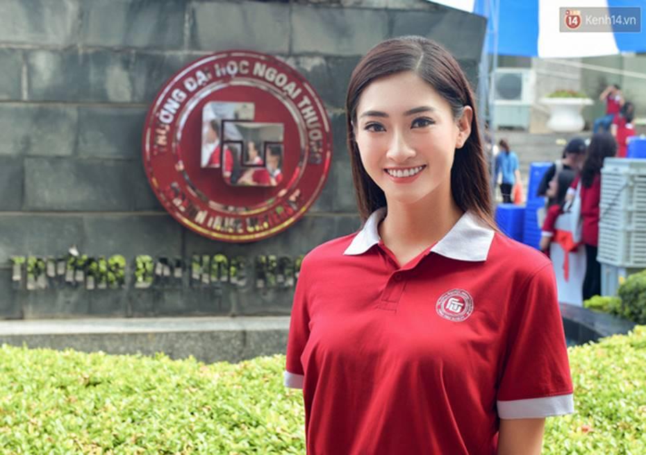 Hoa hậu Lương Thùy Linh đẹp xuất sắc trong ngày khai giảng Ngoại thương, khẳng định chưa có ý định Nam tiến để tập trung cho học tập-1