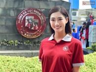Hoa hậu Lương Thùy Linh đẹp xuất sắc trong ngày khai giảng Ngoại thương, khẳng định chưa có ý định Nam tiến để tập trung cho học tập