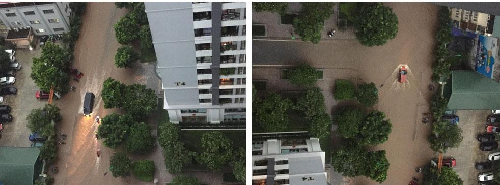 Hà Nội: Sáng thức dậy ngỡ phố hóa sông, chôn chân cả tiếng trên cầu vì ùn tắc-1