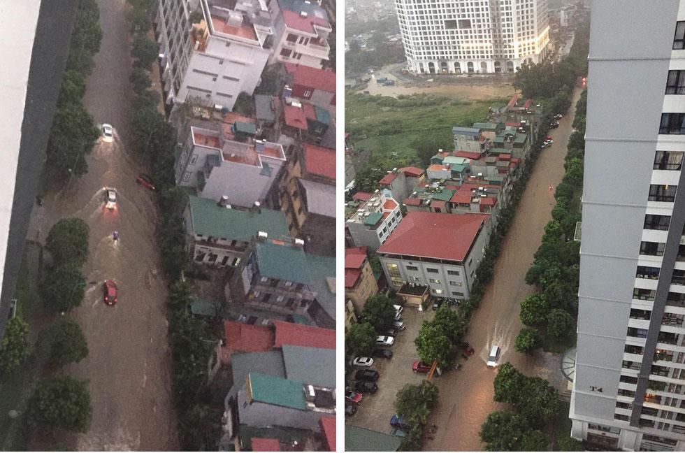 Hà Nội: Sáng thức dậy ngỡ phố hóa sông, chôn chân cả tiếng trên cầu vì ùn tắc-2