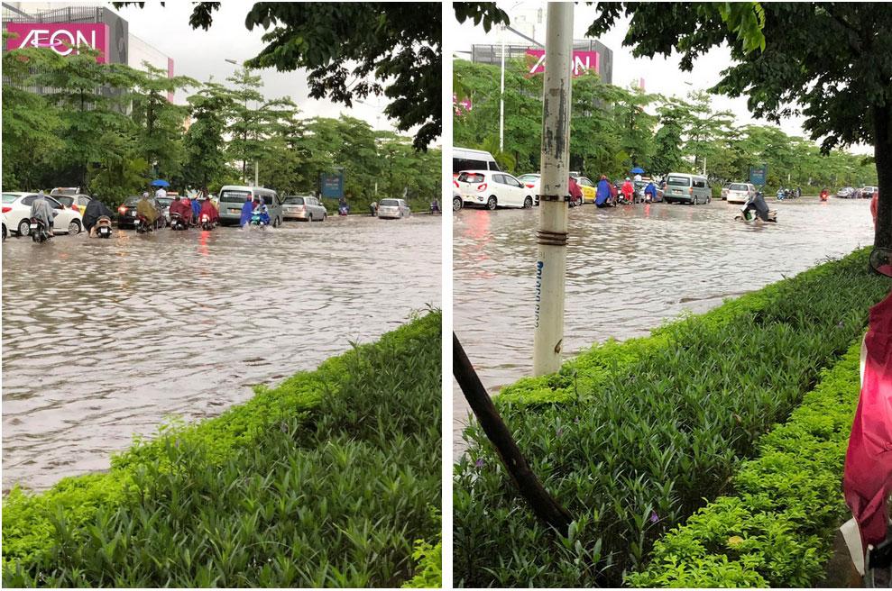 Hà Nội: Sáng thức dậy ngỡ phố hóa sông, chôn chân cả tiếng trên cầu vì ùn tắc-3