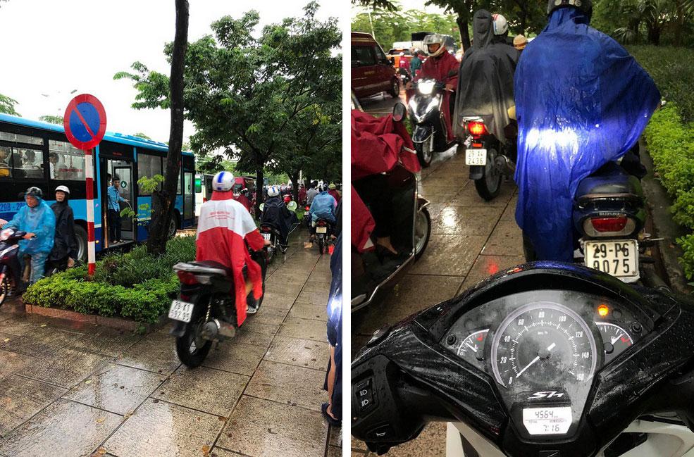 Hà Nội: Sáng thức dậy ngỡ phố hóa sông, chôn chân cả tiếng trên cầu vì ùn tắc-4