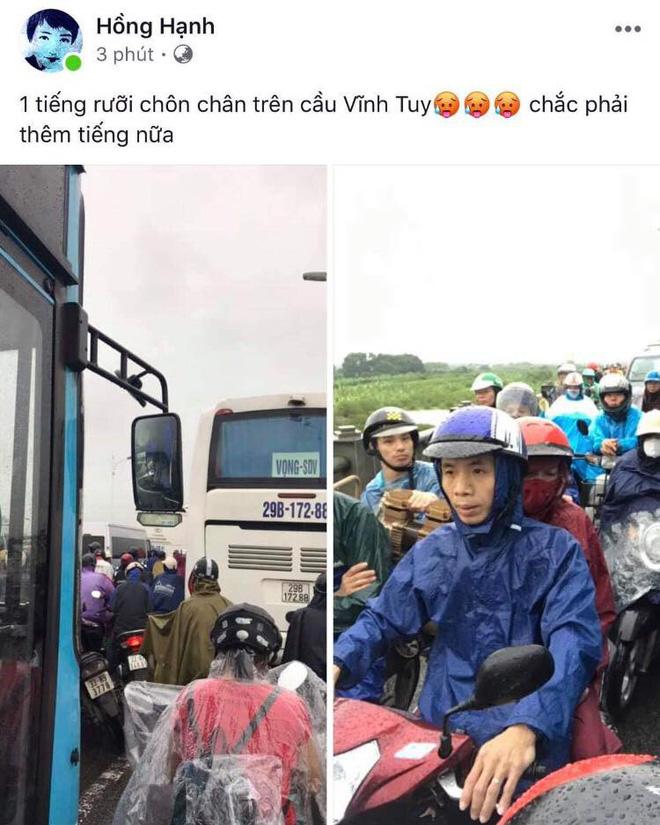 Hà Nội: Sáng thức dậy ngỡ phố hóa sông, chôn chân cả tiếng trên cầu vì ùn tắc-8