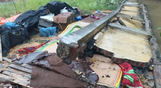 Thái Nguyên: Đang ngủ bị tường đổ sập, 3 người tử vong thương tâm-1
