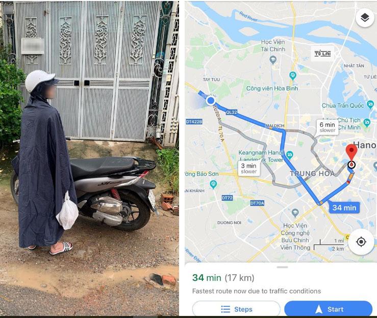Bất chấp mưa gió, chàng trai vượt 17km mang đồ ăn cho người yêu vì nhà không có ai, cái kết đắng khiến ai cũng cười bò-2